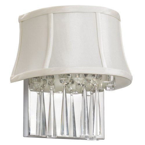 Dainolite Lighting JUL92WPC140 JUL92W-PC-140 Julia 2LT Crystal Wall Sconce Pearl Shad 2-Light Polished Chrome
