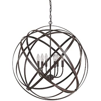 Capital Lighting 4236rs Axis 6 Light Pendant Russet