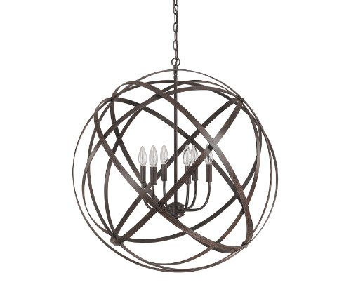 Capital Lighting 4236RS Axis 6-Light Pendant, Russet Finish