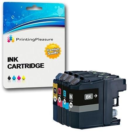 4 Negro Cartuchos de Tinta compatibles para Brother DCP-J562DW ...