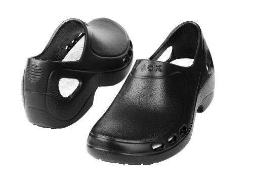 Everlite - Calzado de uso profesional WOCK - Talón Cerrado; Ultraligero; Antideslizante; Absorción de Impactos Negro