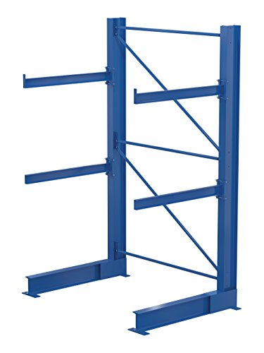 Vestil SAC-1024 Single-Sided Racking, 16600 lb. Capacity, 120'' x 32'', Blue by Vestil