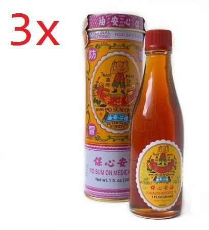 Hong Kong Po Sum On Medicated Oil 30ml - 3 Bottles by Po Sum On