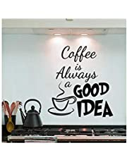 Removable PVC 35X40cm Coffee Is Always A Good Idea Wall Decals Vinyl Stickers Home Decoration DIY PVC Wall Art Living Room Kitchen Wall Sticker-s