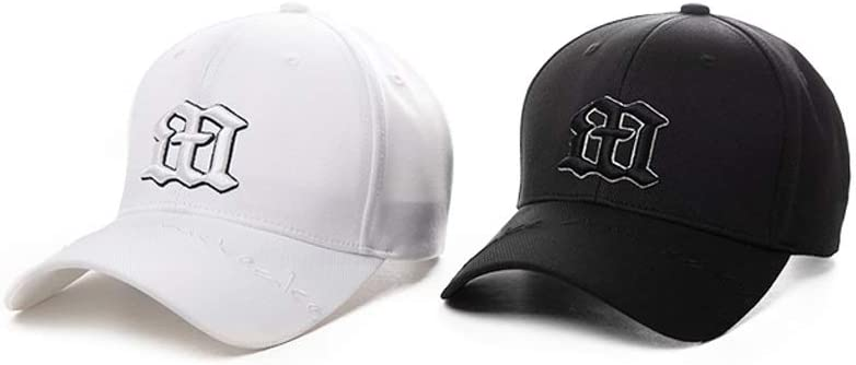 One Siz Pure Cool Black And White Cap Neutral LDDENDP Classic Polo Style Baseball Cap Cotton Adjustable For Men And Women Low-key Black Hat Without Structure Adjustable Sports Flat-top Baseball Cap