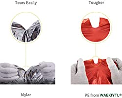 Foil Space Blanket Heat Sheets for Outdoor Hiking Survival Marathons or First Aid Bug Out /& Outdoor Survival Gear More Durable /& No Noise Like Mylar 4-Pack Emergency Blankets PE Quiet Blankets