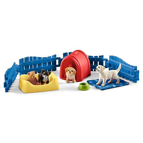 Dog Playset - Schleich Puppy Pen