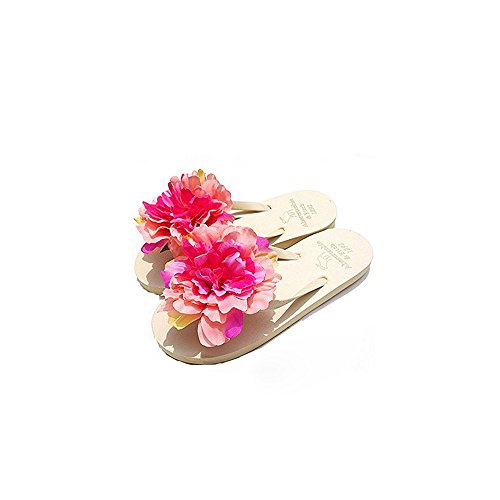 21fc22aecd7743 HYL World Women s Beach Flip Flops With Flower Ornament - Summer Walking  Sandals - Buy Online in UAE.