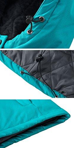 Imperméable vent Mode Ski Bleu Coupe Veste De Anorak Wantdo Montagne Foncé Capuche À Femme v0nqzH