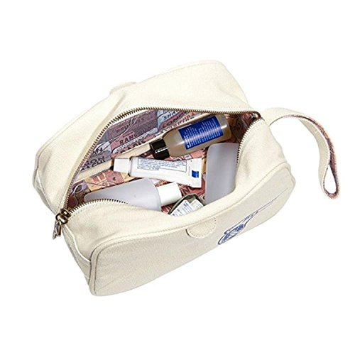 Pan Am Wash - 100% Cotton Wash Bag Hombres Bolsas Beige