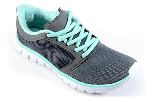 Corkys Runner Sneaker Turquoise / Grijs