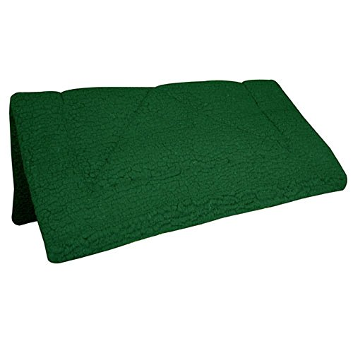 Intrepid International Fleece Extra Thick Western Saddle Pad, Hunter Green ()