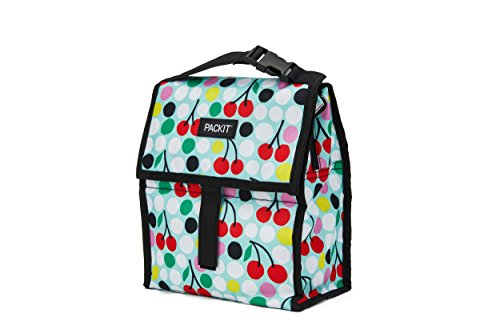 Packit Freezable Lunch Bag With Zip Closure Cherry Dots
