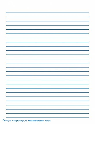 Raised Line Paper NarrowLines Paper (250 Sheets)
