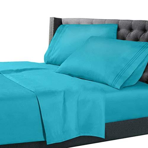 - Hebel Double Brushed Soft Microfiber Hotel Style Bed Sheets, Deep Pocket Sheet Set | Model SHTST - 496 | King