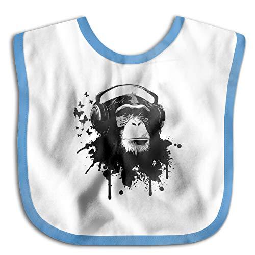 XHX Baby Music Monkey Saliva Towel Bibs
