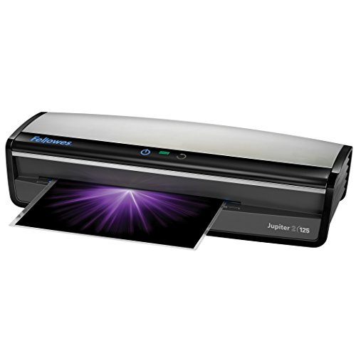 Fellowes Laminator  Jupiter 2 125, Rapid 1 Minute Warm-up Laminating Machine, with Laminating Pouches Kit (5734101) ()