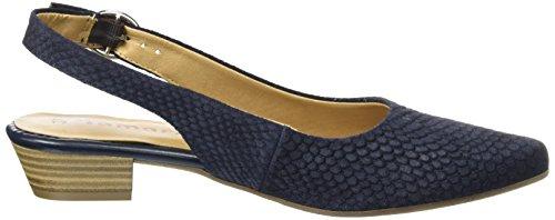 Tamaris 29400, Sandalias con Cuña para Mujer Azul (Navy Structure 855)