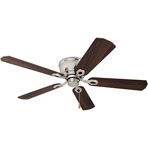 Prominence Home 80031-01 Woodmere Low-Profile Hugger Ceiling Fan with LED Bowl, 52 inches, Brushed Nickel by Prominence Home (Image #10)