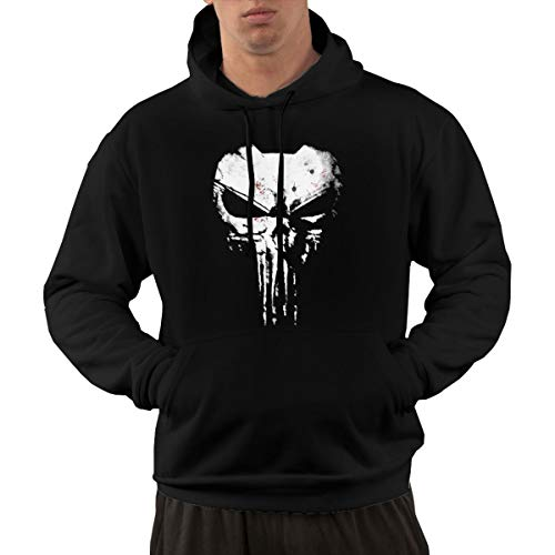 Hhyingb The Skull Men Personality Sweater Hoodie M Black