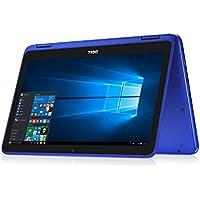 Dell i3168-0702BLU 11.6 HD 2-in-1 Touchscreen Laptop (Intel Celeron N3060 1.6GHz Processor, 4 GB DDR3L SDRAM, 32 GB SDD, HDMI, Bluetooth, Windows 10 Microsoft Signature Image) Bali Blue