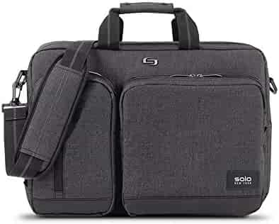 Solo Duane 15.6 Inch Laptop Hybrid Briefcase, Converts to Backpack, Grey