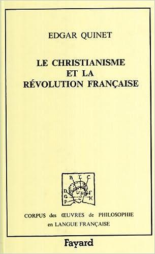 Livre gratuits en ligne Le Christianisme et la révolution française, 1845 pdf, epub ebook