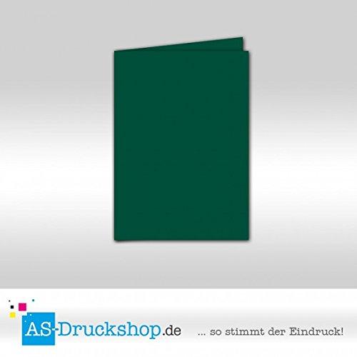 Faltkarte Doppelkarte - Smaragdgrün - Samt satiniert 25 Stück DIN A5 B0794ZFHPC |