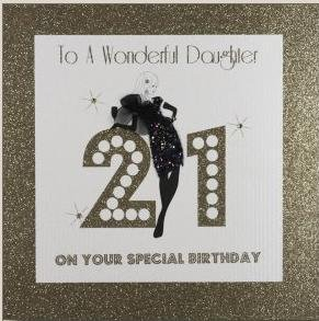 Five Dollar Shake 21st Birthday Card QuotTo A Wonderful Daughter On Your Special Birthdayquot
