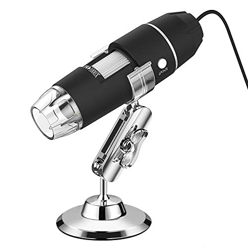 USB Microscope, VSATEN 3 in 1 Digital Microscope 50X-1000X Magnification Endoscope with 2.0MP CMOS, 8 Adjustable LEDs and Stand Holder for Android Smartphone, Tablet, Windows & MacBook OS Computer
