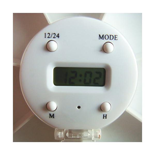 Pixnor - Pastillero electrónico y automático, con alarma recordatorio, dispensador de pastillas 10