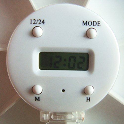ROSENICE Portapillole con allarme elettronico Scatola per pillole portatile con 7 scomparti in Bianco