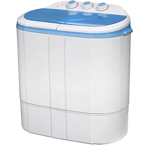 HAMMER Waschmaschine Twin Tub Compact 2.5 kg Tragbare Waschmaschine Wäscheschleuder Elektro Drain, Mini-Waschmaschine…
