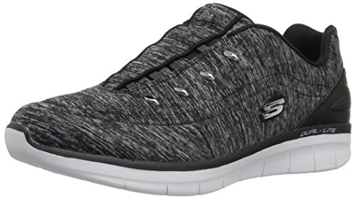 Synergy Fashion Black 2 Women's Scouted 0 Wide White Skechers Sport wfCvq