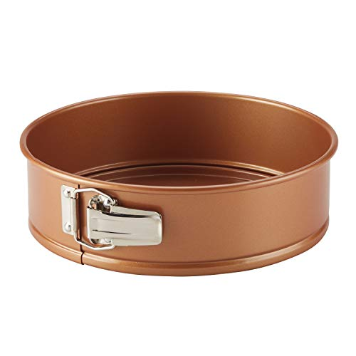 Ayesha Curry 47706 Nonstick Bakeware Nonstick Springform Baking Pan / Nonstick Springform Cake Pan / Nonstick Cheesecake Pan, Round - 9 Inch, Copper