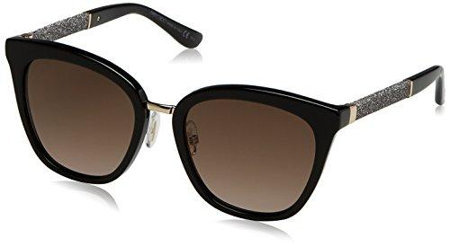 Jimmy Choo Fabry/S FA3 Black Glitter Fabry/S Round Sunglasses Lens Category 2 S