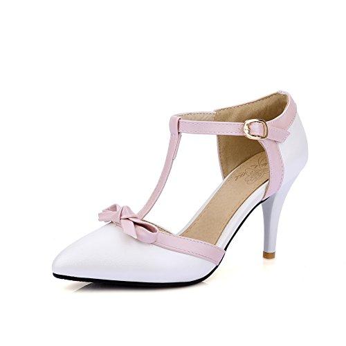 AdeeSu Compensées 36 Blanc 5 Sandales Blanc Femme wBrqwFa