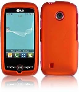 Orange Hard Case Cover For Lg Beacon Un270 Attune Mn270 Exchange 270