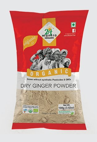24 Mantra Organic Dry Ginger Powder 100g (Pack of 2)
