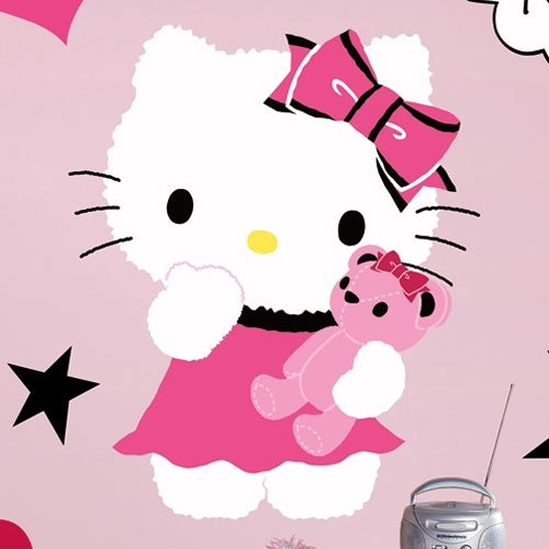 Hello Kitty - Couture Peel & Stick Giant Wall Decal 18 x (Hello Kitty Wallpaper)