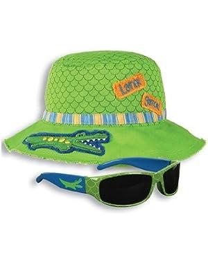 Alligator Bucket hat and Sunglasses Set