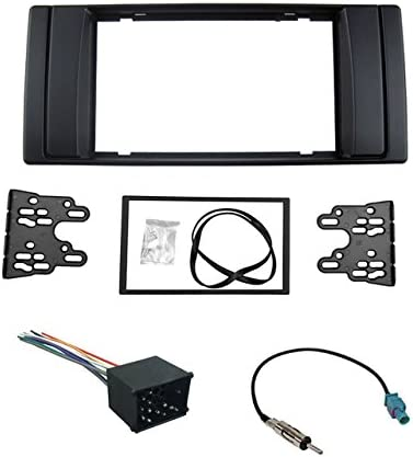 Single DIN Car Stereo Dash Kit Harness Atenna for 2000-2006 BMW 5 Series// X5