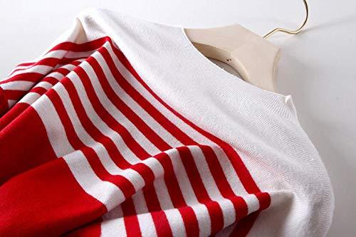 Inverno Autunno Donne Selvaggio Pullover Red E Slim Maglioni Sciolto wvUWqa5nv6