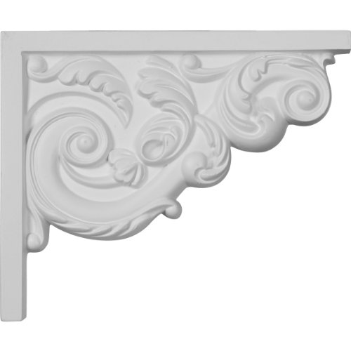 Ekena Millwork SB08X07AS-R 8 3/4-Inch W by 7 1/8-Inch H by 5/8-Inch D Small Ashford Stair Bracket, Right