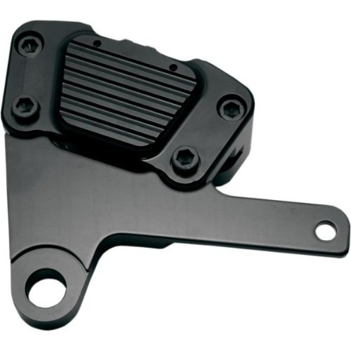 Gma Caliper - GMA Engineering 2-Piston Front Brake Calipers Classic Black Contrast GMA-FLH-10B
