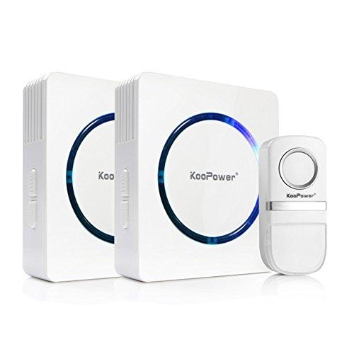 White Wireless Doorbell Chime Box Door Push Button Ringer Portable 150 ft Range