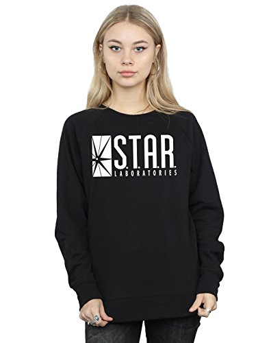 DC Comics Women's The Flash Star Labs Sweatshirt Medium Black