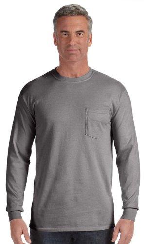 Comfort Colors C4410 Long-Sleeve Pocket T-Shirt - Grey -
