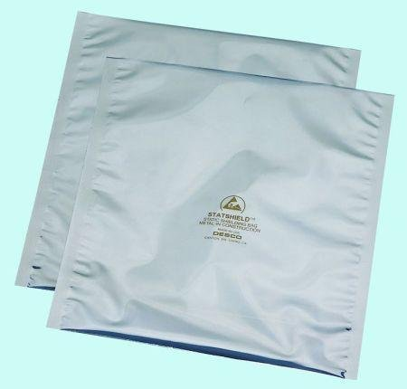 8inch x 12inch Statshied Transparent Metal-In Standard ESD Shielding Bags With Double Sided Foam Tape