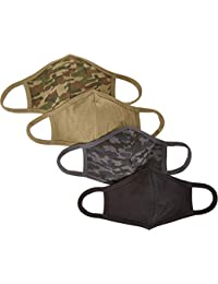Unisex Adult and Kids 4-Pack Reusable Face Covering